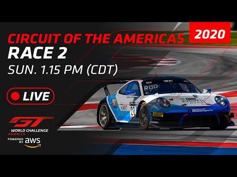 2020年 ブランパンGTワールドチャレンジ・アメリカ(COTA)レース2ライブ配信動画