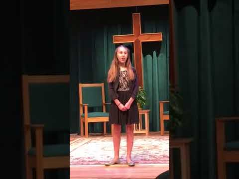Talented Music by Roberta voice student singing Over the Rainbow at recent Student Showcase performance