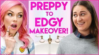 PREPPY TO EDGY SURPRISE MAKEOVER! Stalled w/ Kandee Johnson