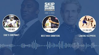 Dak's contract, Best NBA shooters, Lakers/Clippers (6.3.20) | UNDISPUTED Audio Podcast