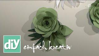 Dekoration Aus Papierblumen | DIY Einfach Kreativ