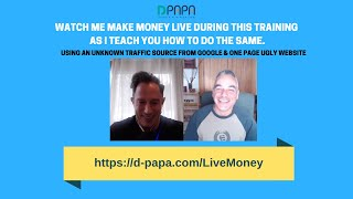 Watch Me Make Money LIVE During This Training As I Teach YOU How To Do The Same.