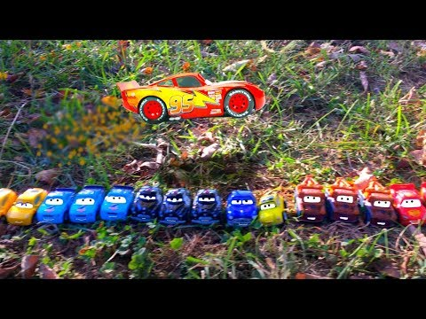 NEW Disney Cars Movie Toys NEVER Before SEEN Lightning McQueen GIANT HUGE BIGGEST BEST FUN Jump EVER