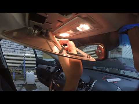 как снять обшивку потолка на Chevrolet Cruze