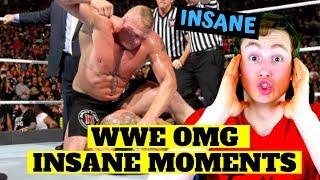MMA FAN REACTS TO WWE OMG MOMENTS (insane...)