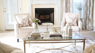 LIVING ROOM DECORATING IDEAS|LUXURY ON A BUDGET