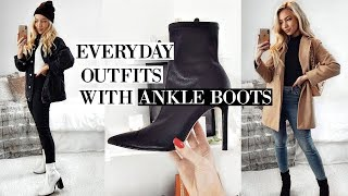 EVERYDAY OUTFITS WITH ANKLE BOOTS 2020! / CASUAL OUTFIT IDEAS