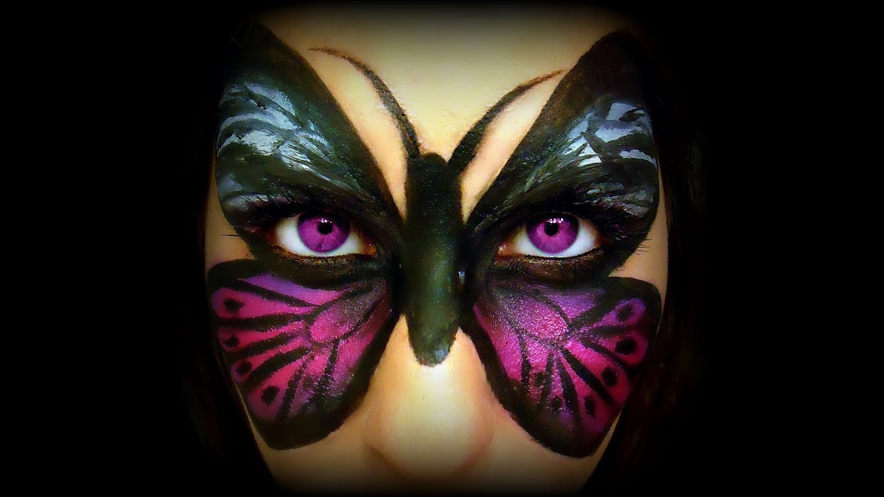 MASCHERA FARFALLA ♥ Make-up FANTASIA per trasformarsi in una Farfalla