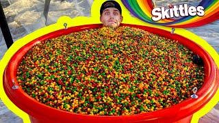 1,000,000 Skittles Vs. Trampoline from 45m