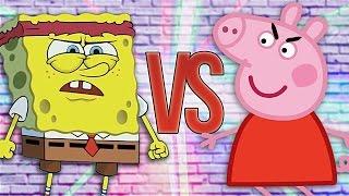 СУПЕР РЭП БИТВА: Губка Боб VS Свинка Пеппа (SPONGE BOB SQUAREPANTS Против PEPPA PIG)
