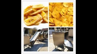 full automatic banan chips production process
