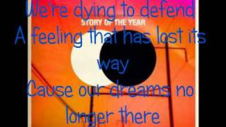 The Dream Is Over- By Story of the Year (Lyrics)