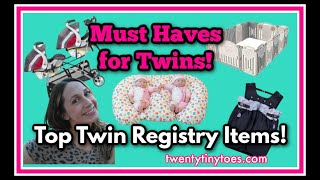 Twin Baby Registry Must Haves 2021 - For The First Year With Twins!