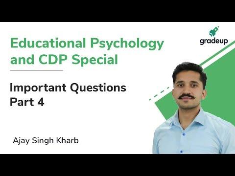Important Questions for DSSSB, CTET/UPTET| Part 4 | Child Development and Pedagogy | Gradeup