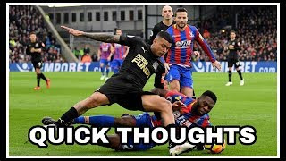 Crystal Palace 1-1 Newcastle United   Quick thoughts