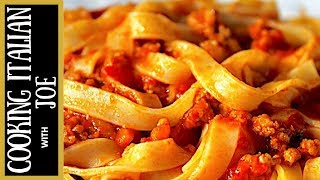 How to Make World's Best Bolognese Ragu Pasta Sauce Cooking Italian with Joe