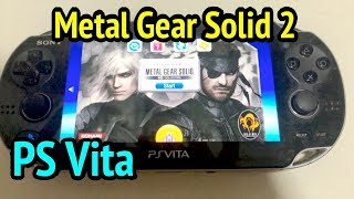 PS Vita Running Metal Gear Solid 2: Sons of Liberty
