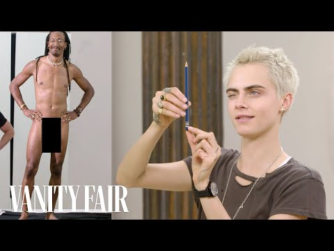 Cara Delevingne Draws Nude Models | Vanity Fair