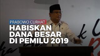 Menteri Prabowo Subianto Curhat Partainya Habis Dana Besar di Pemilu 2019