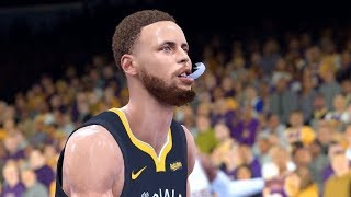 NBA 2K19 - Golden State Warriors vs. Los Angeles Lakers - Full Gameplay (Updated Rosters)