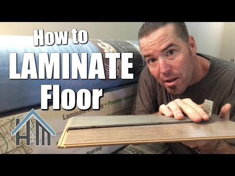 How to install laminate flooring, floating floor easy! Home Mender