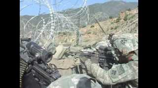 preview picture of video 'Firefight in Korengal Valley'