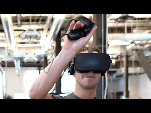 Oculus VR prototype with positional tracking