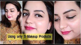 Glow Makeup Using only 5 Makeup Products | Beginners makeup