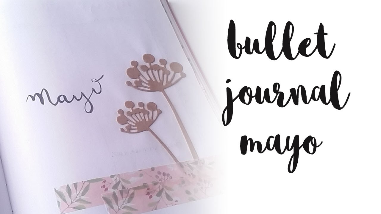 Decoración bullet journal mayo 2017 | Plan with me