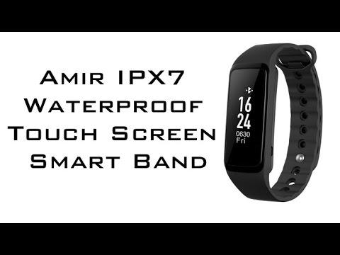 Amir IPX7 Waterproof Smart activity fitness tracking Bracelet review