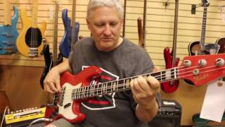 The Funkiest Bass Player, Trevor Lindsey, Stopped By Normans Rare Guitars