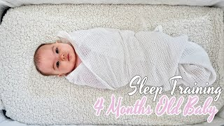 HOW I SLEEP TRAINED MY 4 MONTH OLD BABY TO FALL ASLEEP ON HER OWN ? (PUPD Gentle Method)