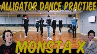 Monsta X   Alligator [Dance Practice Reaction]