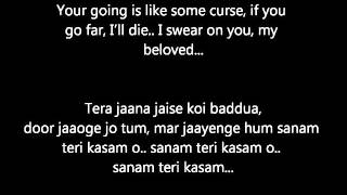 Sanam Teri Kasam with English Translation - Hindi Lyrics