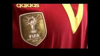 Spain 2013 Confederations Cup Home Shirt Thailand Made