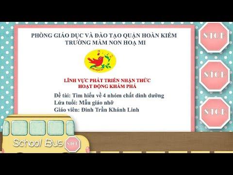 Cô giáo Đinh Trần Khánh Linh - Trường mầm non Họa Mi với hoạt động KPKH: Tìm hiểu về 4 nhóm chất dinh dưỡng