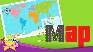 Kids từ vựng - Bản đồ - Sử dụng bản đồ - Tìm hiểu tiếng Anh cho trẻ em