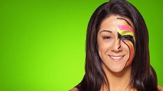 Bayley becomes The Ultimate Warrior: WWE Halloween Makeup Tutorial   Kholo.pk