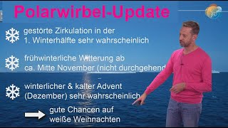 Polarwirbel-Update: Wie entwickelt sich der Polarwirbel? Kalte erste Winterhälfte wahrscheinlich!