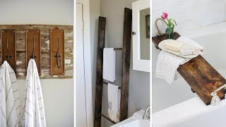10 DIY Rustic Furniture Projects For Your Bathroom