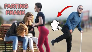 Blindman Farting in Public PRANK 💃💨  - Best of Just For Laughs - AWESOME REACTIONS