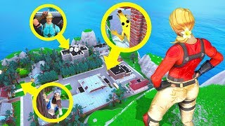 Fortnite SNEAKIEST HIDING Spots! (Fortnite Creative Mode)