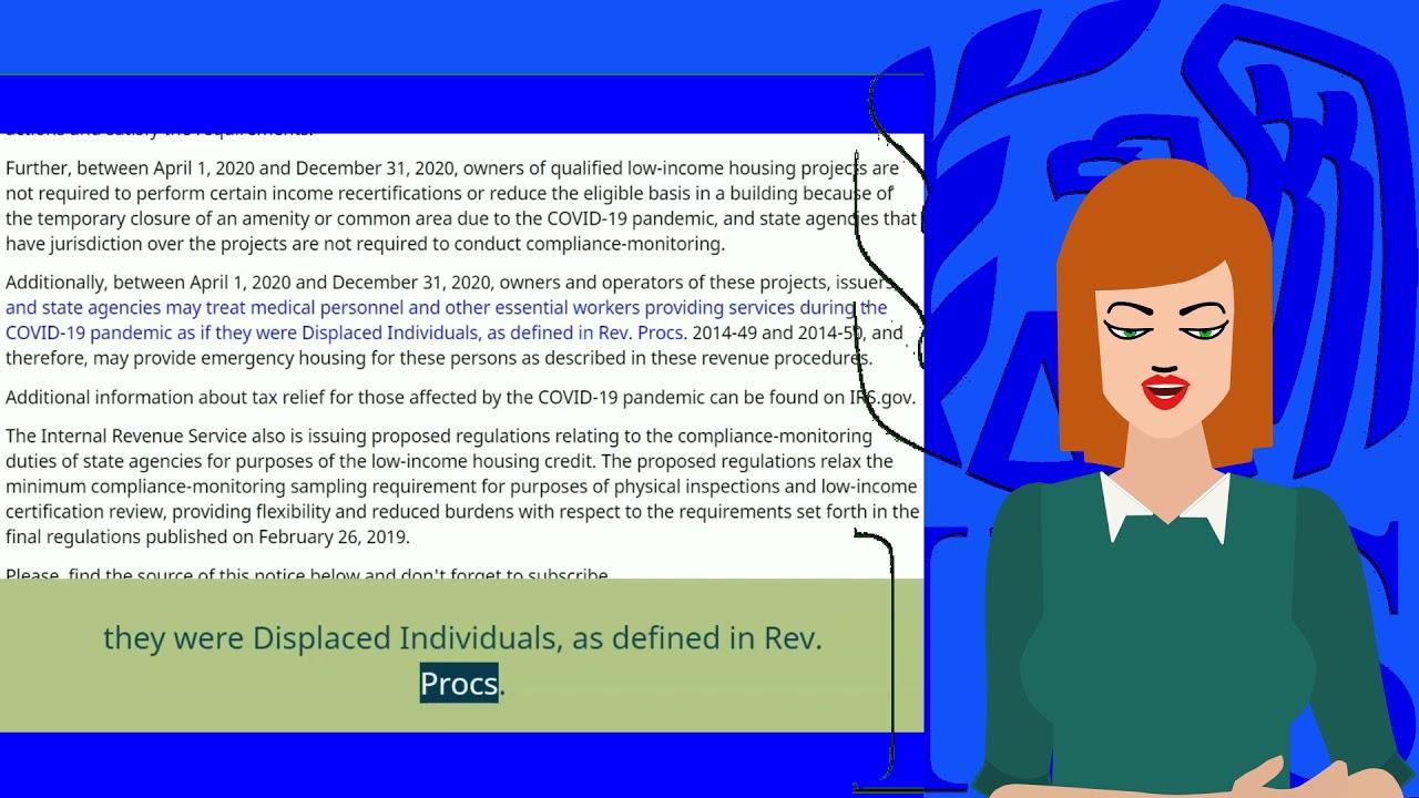 Household Economics/ Personal Financing: News from Internal Revenue Service, IR-2020-136