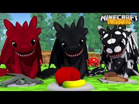 BABY NIGHTFURY FEEDING! - Minecraft Dragons S2