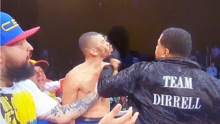 Boxing Trainer SUCKER PUNCHES Jose Uzcategui After Late Hit on Andre Dirrell