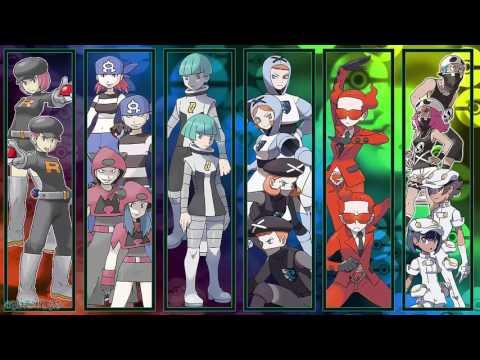 All Pokémon Villainous Team Grunt Battle Themes [GEN 1-7]