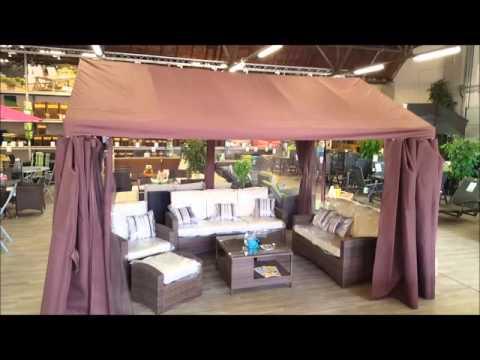 Pavillon Festzelt Gartenzelt Partyzelt 100065 von MACO braun 4 x 3 m