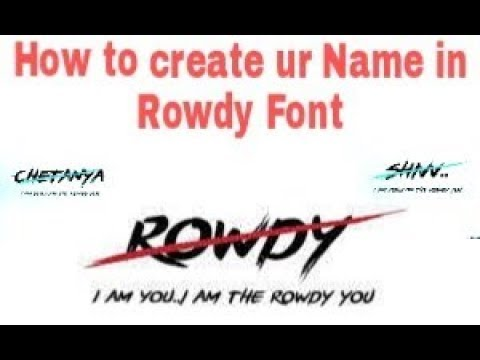 How to make the name in rowdy font   ( For Vijay Fans ) - смотреть