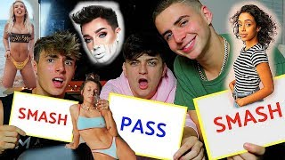 EXTREME SMASH OR PASS CHALLENGE *2018* Ft. Badzach & Bryce Hall