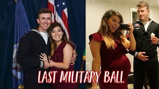 OUR LAST MILITARY BALL | 31 WEEKS PREGNANT | GRWM VLOG